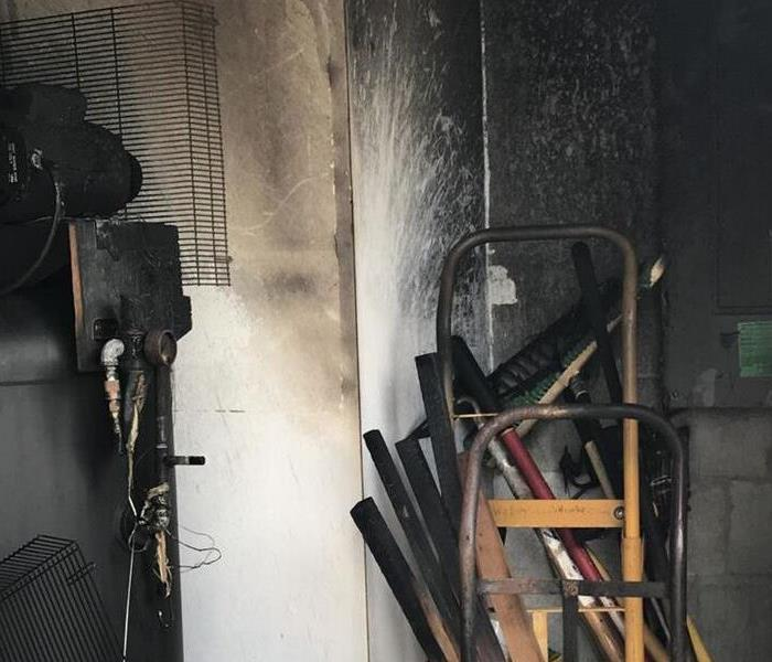 Electrical Fire in Garage Before