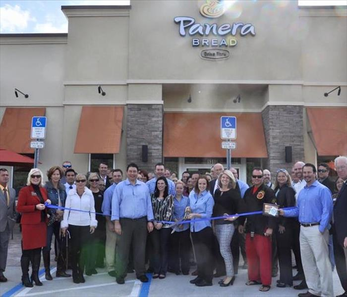 Ribbon cutting with Panera Bread