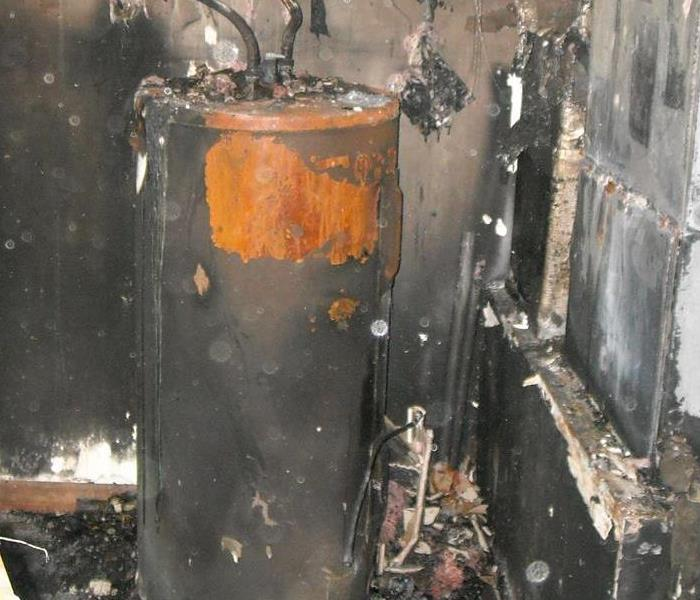 Water Heater Fire - Soot and Water Damage  - Palm Coast FL